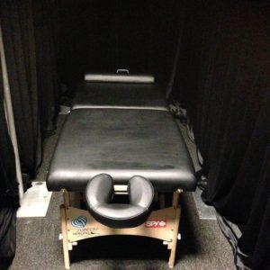 Massage backstage for Team Bassic Black