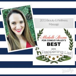 Conejo Valley Best Massage 2015 Michelle Rozzen