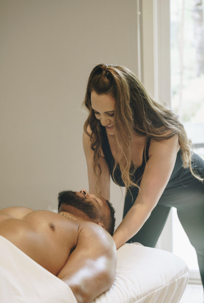 Aaron Donald Gets a Massage By Michelle Rozzen